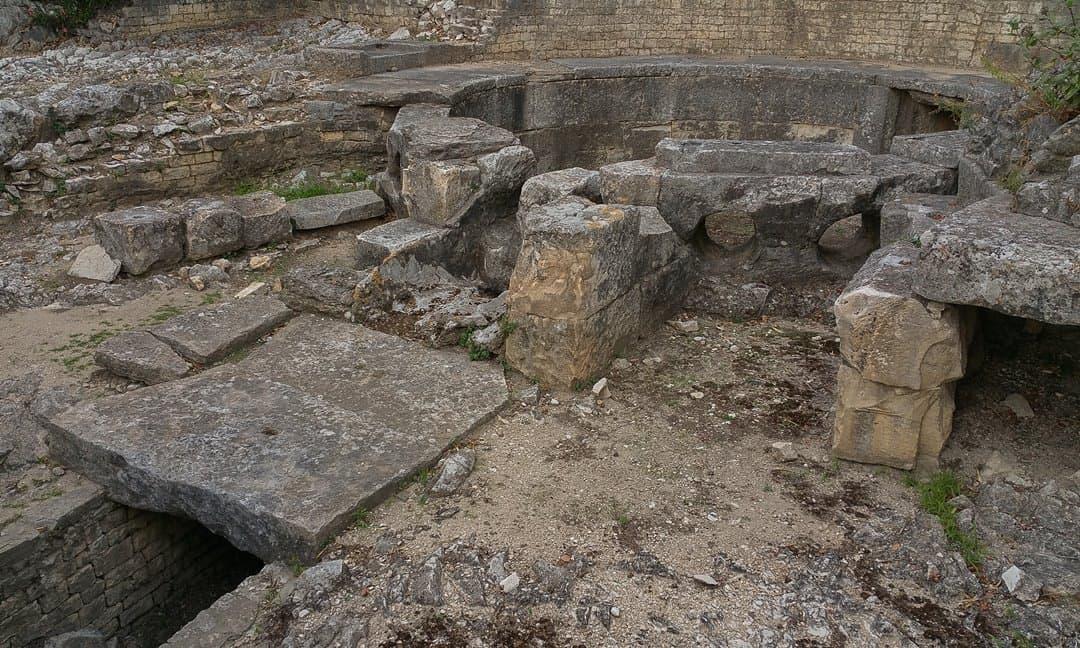 Detail of the Castellum Aquae in Nîmes.