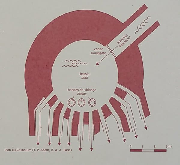 A plan of the Roman castellum in Nîmes.