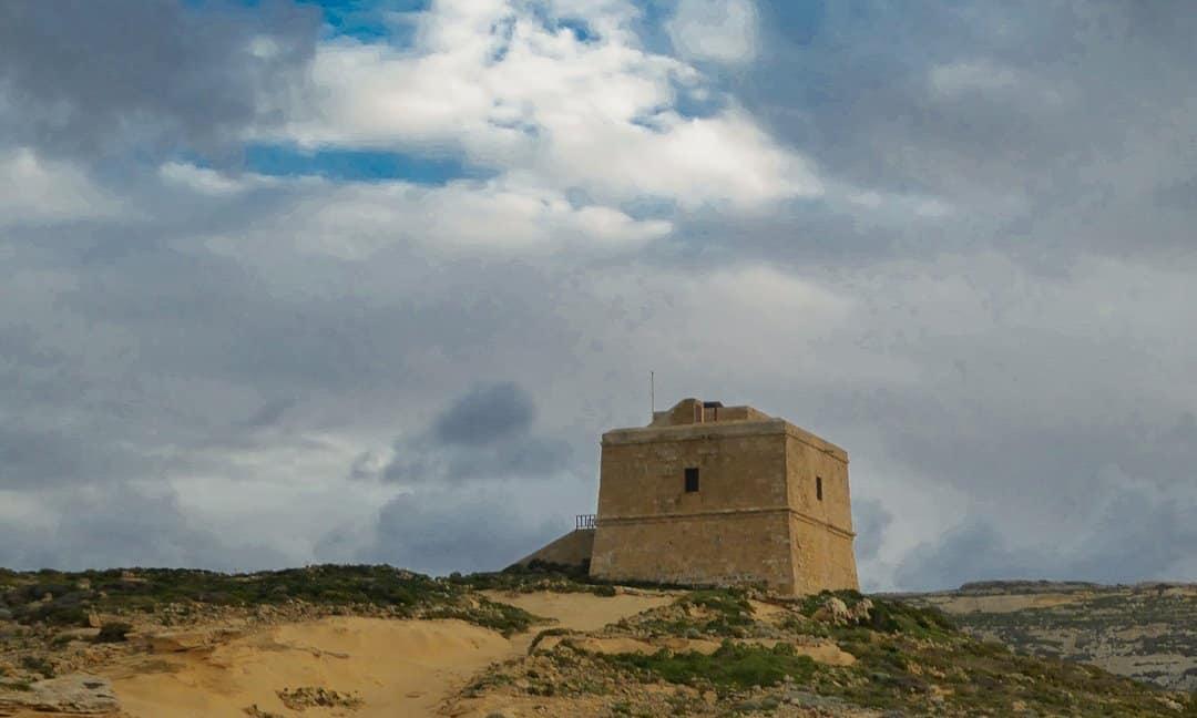 The Dwejra Tower in Gozo.