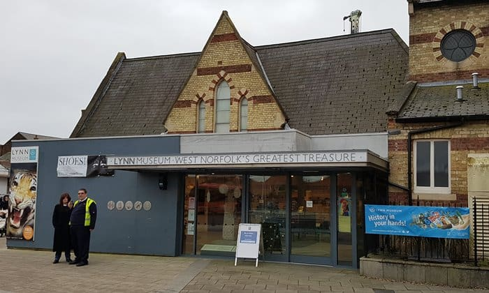 The entrance to Lynn Museum at the Bus Station in King's Lynn.