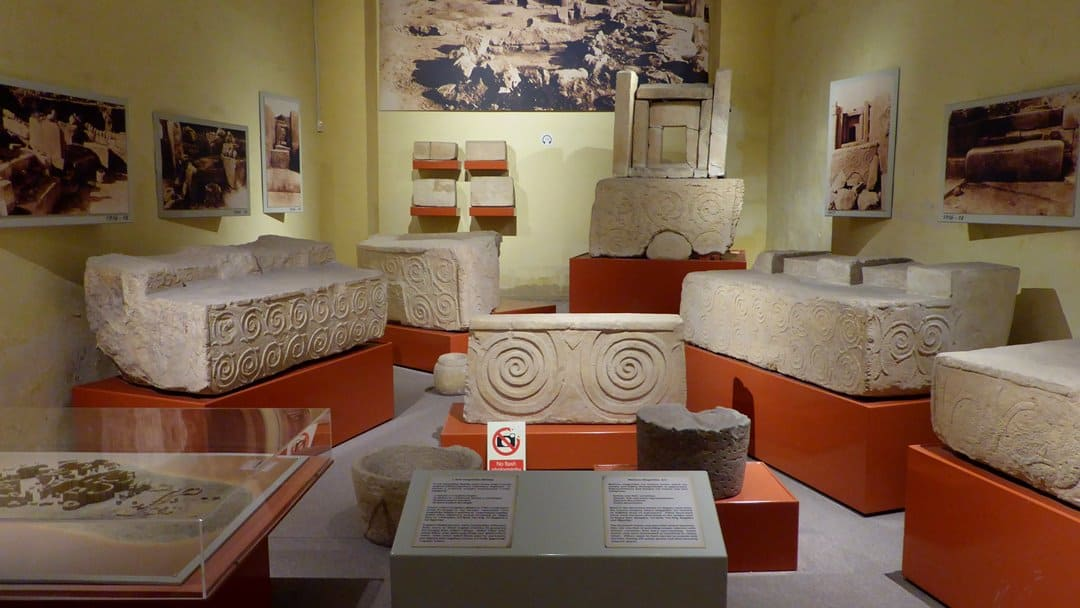 Megalithic exhibition in the National Museum of Archaeology.