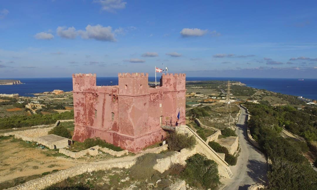 The Red Tower, or Fort St Agatha, Malta.