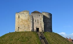 Clifford Tower on top of the earthen mound in York.