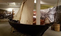 A typical fishing rowboat built in 1907, Reykjavik Maritime Museum.