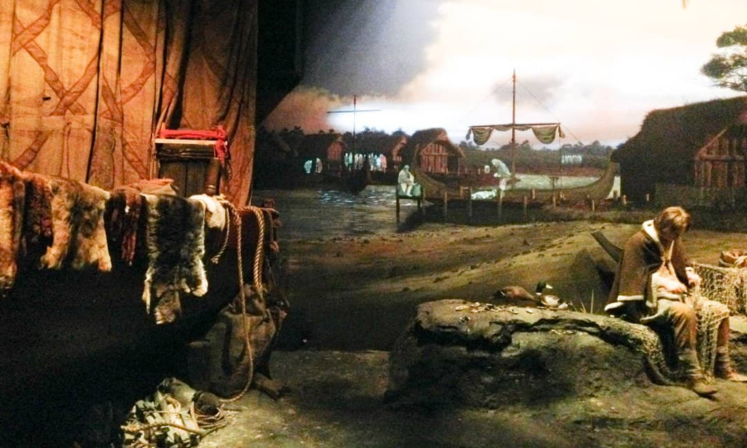 One of the displays of Viking life in York at the Jorvik Viking Centre.
