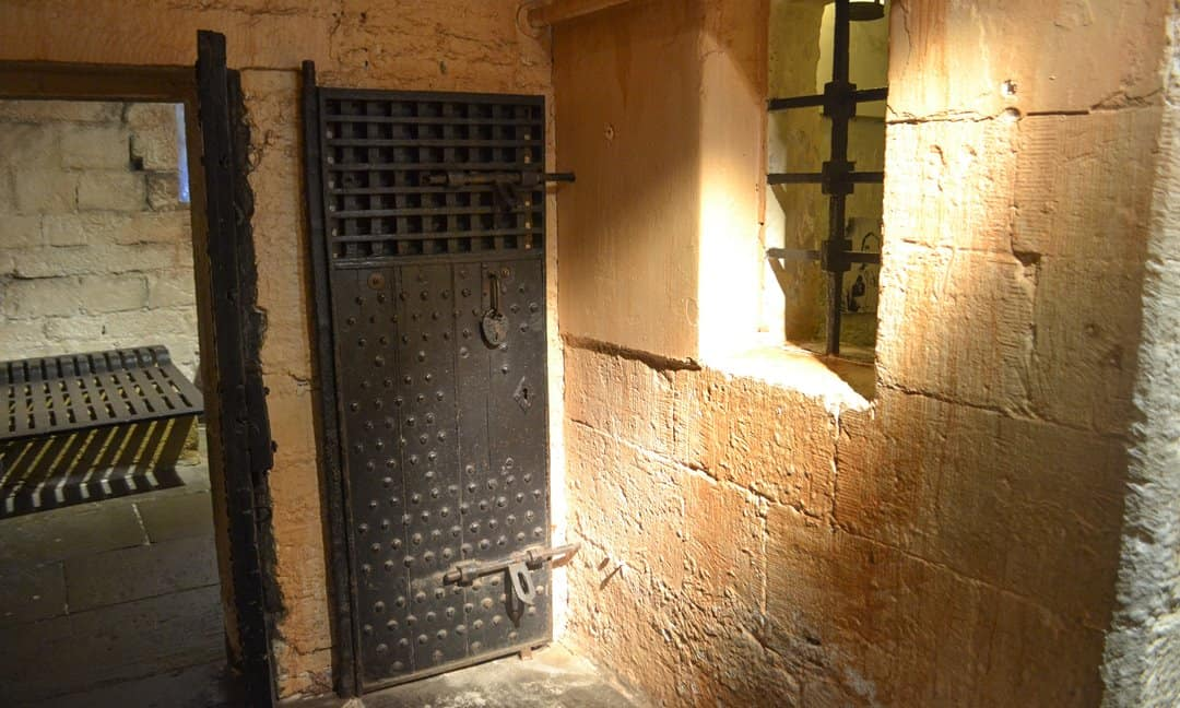 A prison cell in the York Castle Museum.