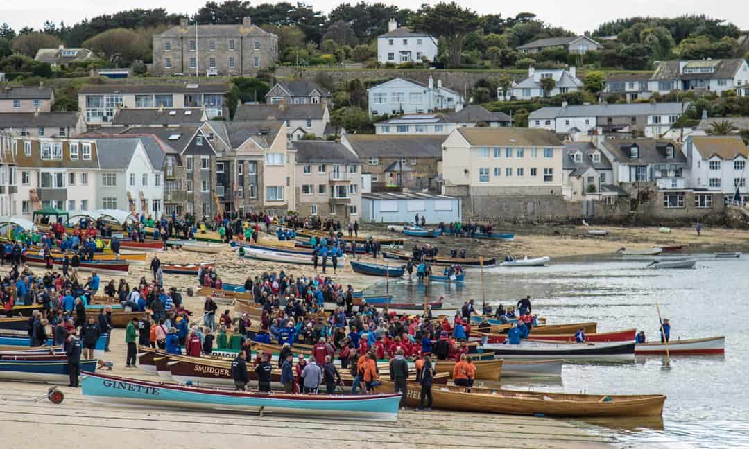A sporting event on the beach of St Mary's, Isles of Scilly.