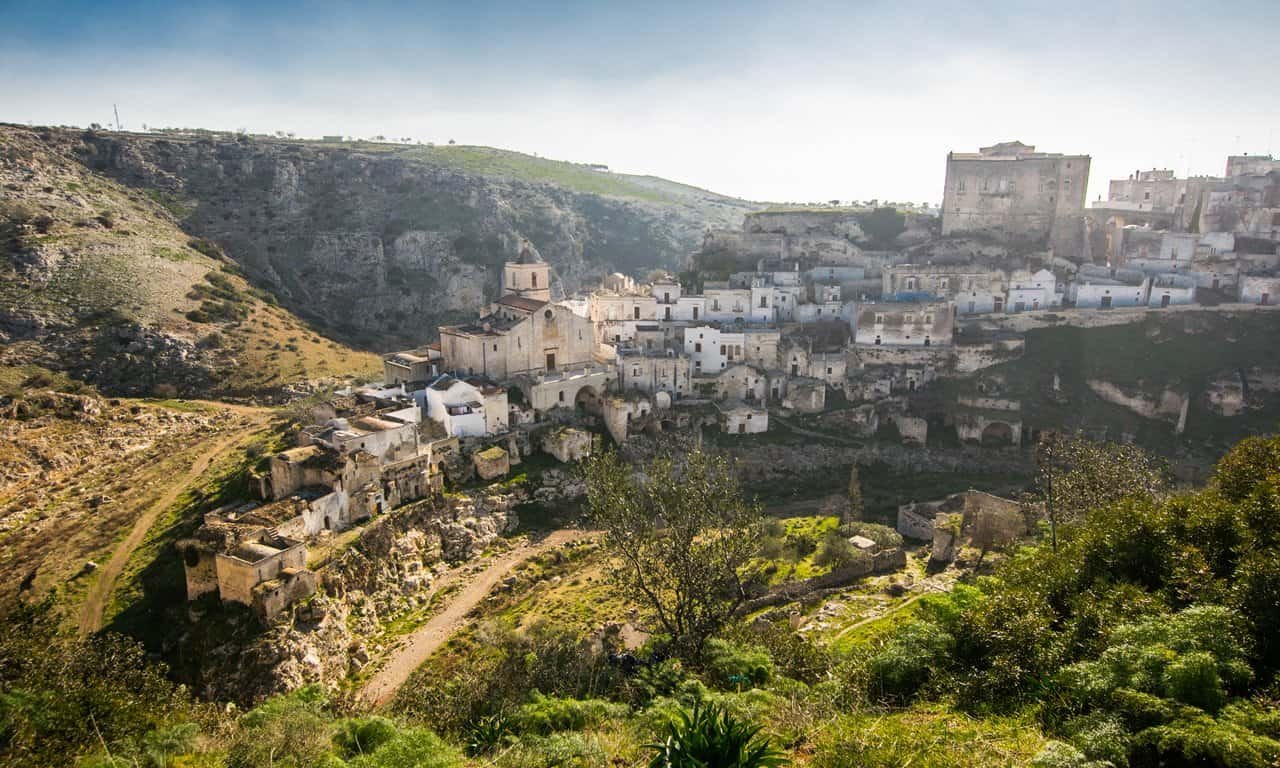 View of the historical part of Ginosa in Puglia, Italy