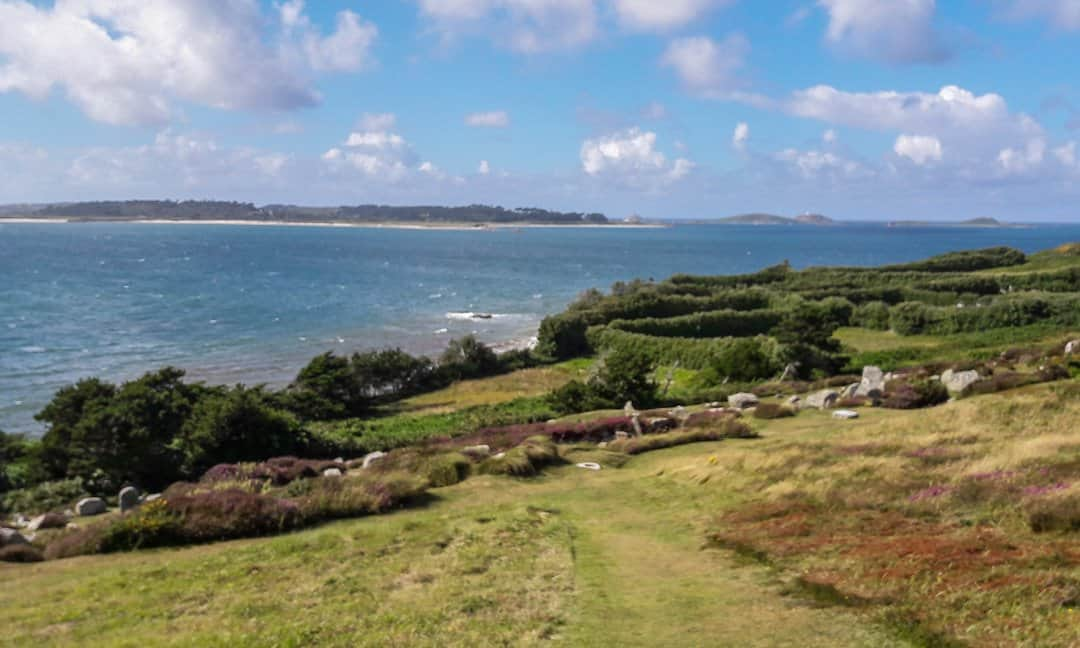 Halangy Down Ancient Village on St Mary's Island, Isles of Scilly.