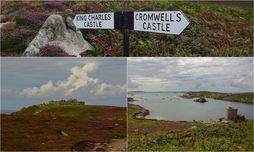 King Charles' and Cromwell's Castles on  Tresco Island, Isles of Scilly.