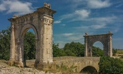 Le Pont Favien in Provence, southern France.