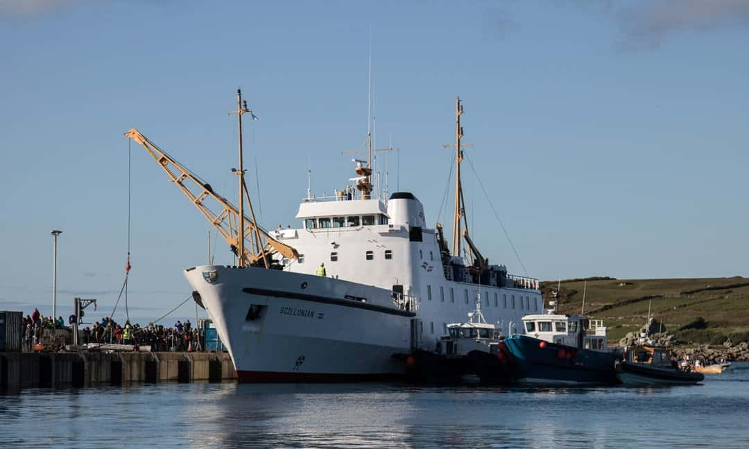 The Scillonian ferry to the Isles of Scilly, England.
