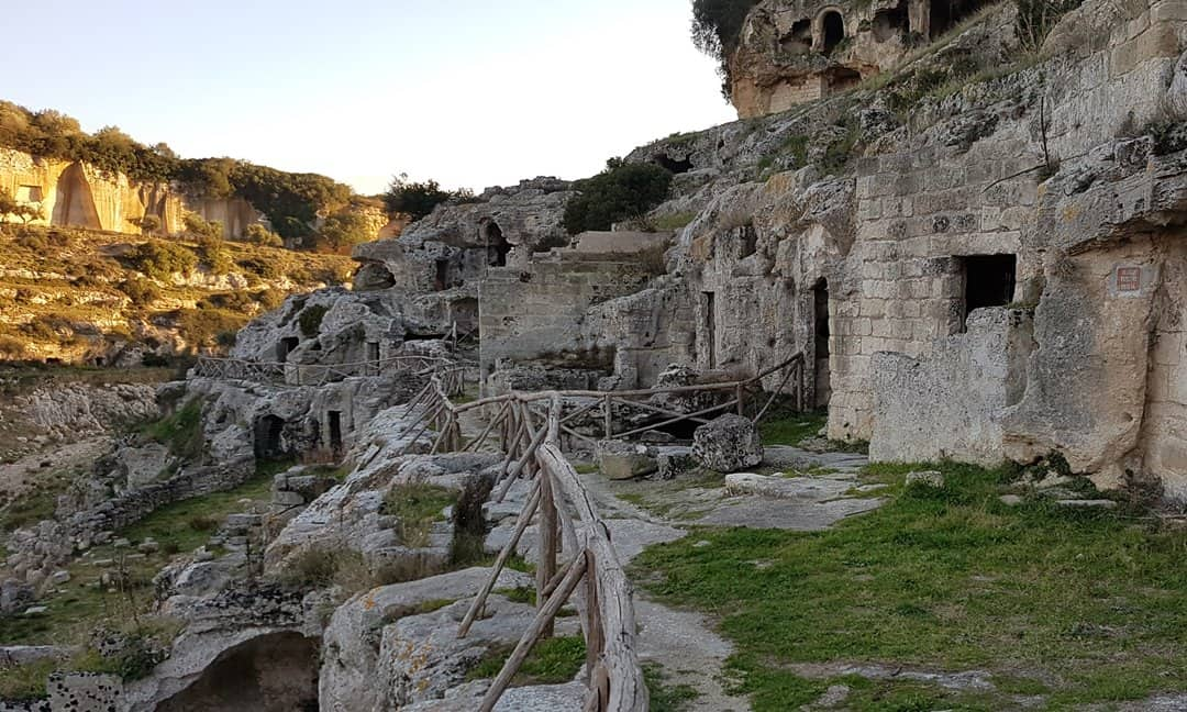 The rock-cut settlement in Gravina Rivolta, Ginosa.