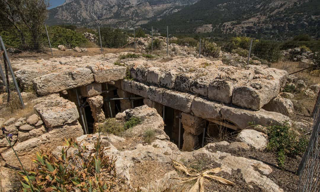 The Roman cistern near Lefkos on the island of Karpathos Greece.