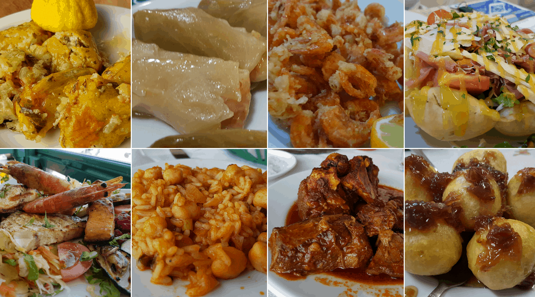 Typical dishes served in restaurants in Karpathos.
