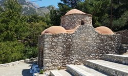 The Byzantine Church of St George near Lefkos, Karpathos.