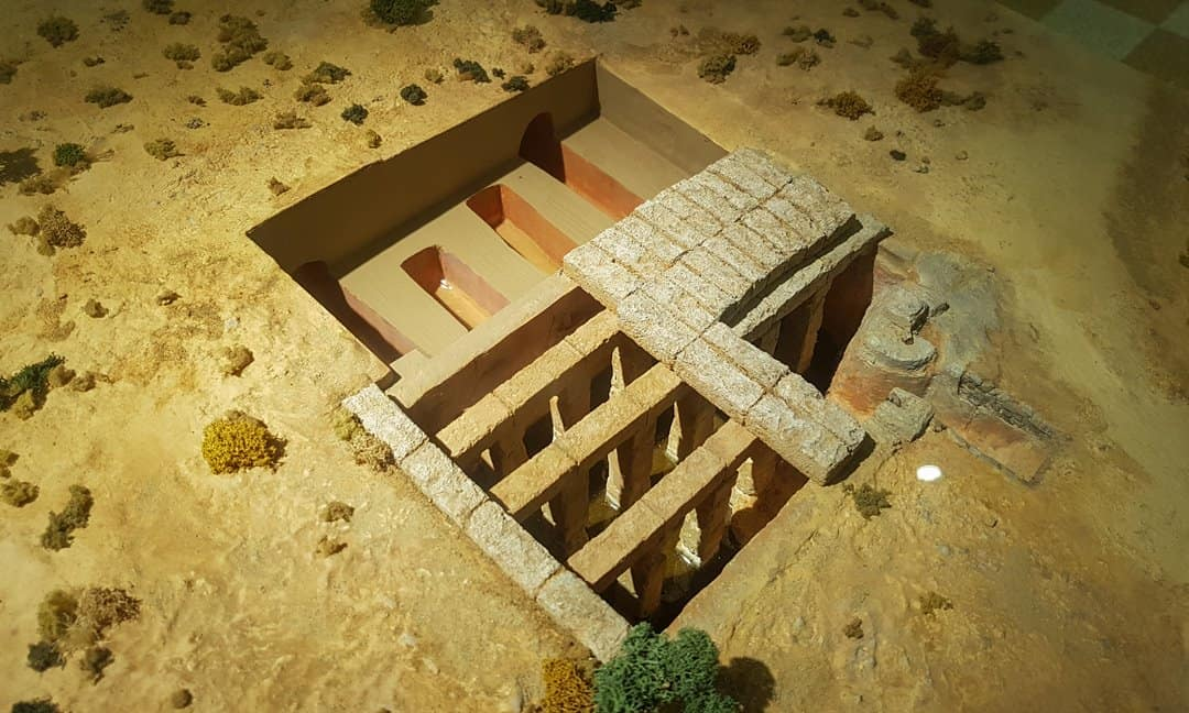 Scale model of the Roman cistern in the Karpathos Archaeology Museum.