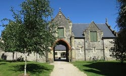 Entrance to Quarr Abbey, Isle of Wight.