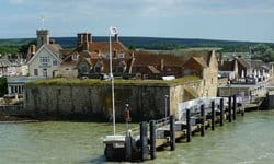 Yarmouth Castle is an artillery fort in Yarmouth Harbour.