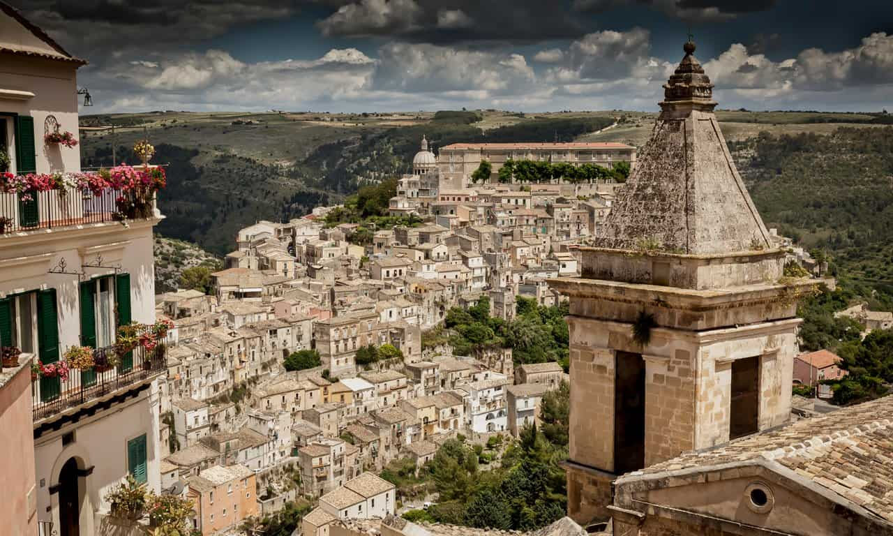 The UNESCO listed town of Ragusa, Sicily.