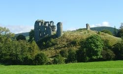Ruins of the Norman Clun Castle in Shropshire