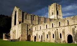 The evocative ruins of Fountains Abbey, Yorkshire.