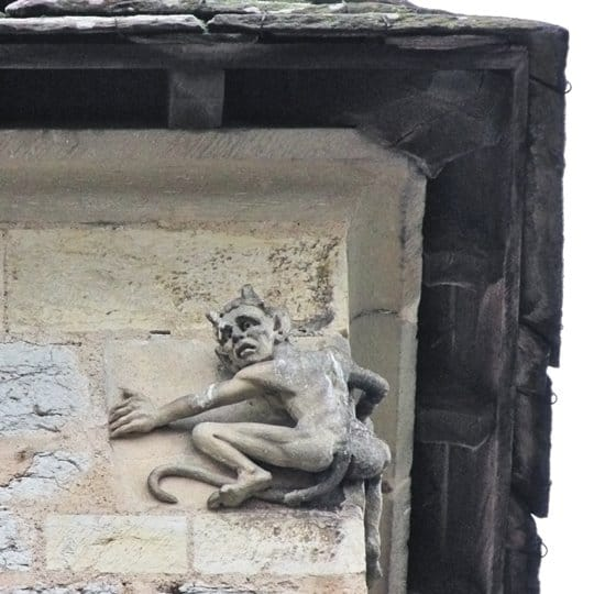 The 19th century imp on the Devil's Tower of Pont Valentré, Cahors.