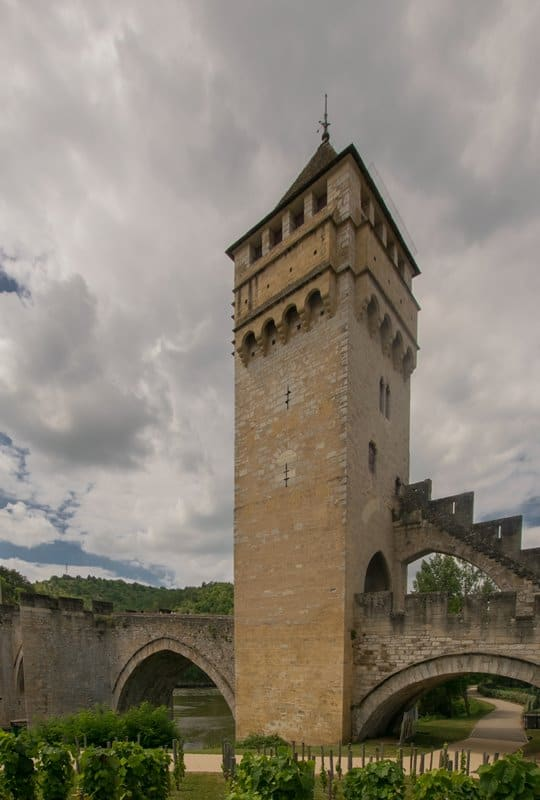 The eastern-most tower of the Pont Valentré, Cahors.
