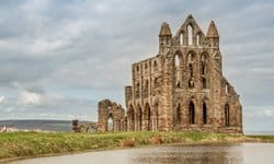 The ruins of Whitby Abbey in Yorkshire.