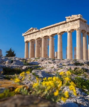 The Parthenon in Athens, one of the world's most recognisable ancient monuments.