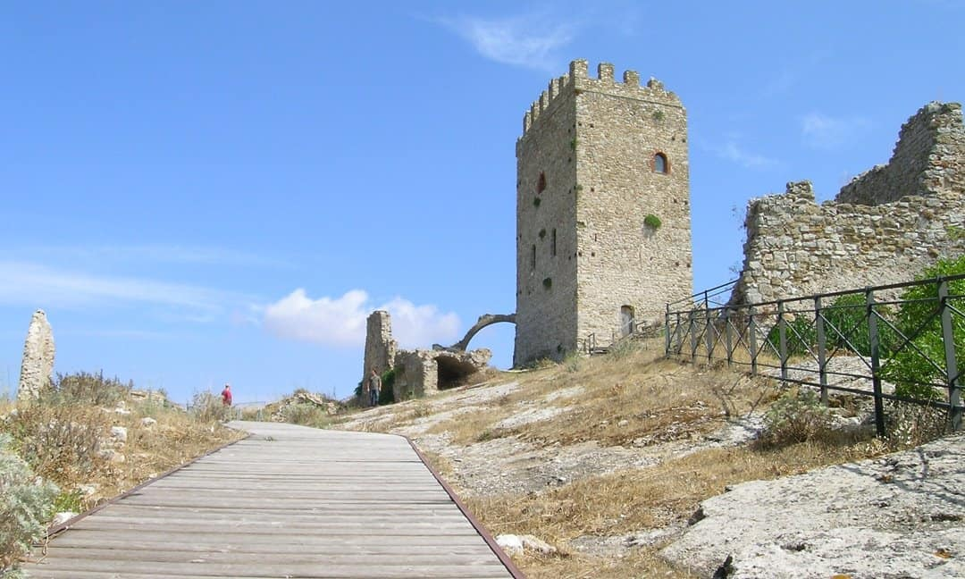 The castle in the town of Cefalù, Sicily.