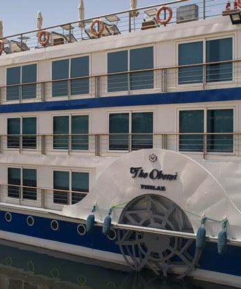 The luxury Nile cruise ship, the Oberoi's Philae.