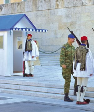 The guards on Syntagma Square.
