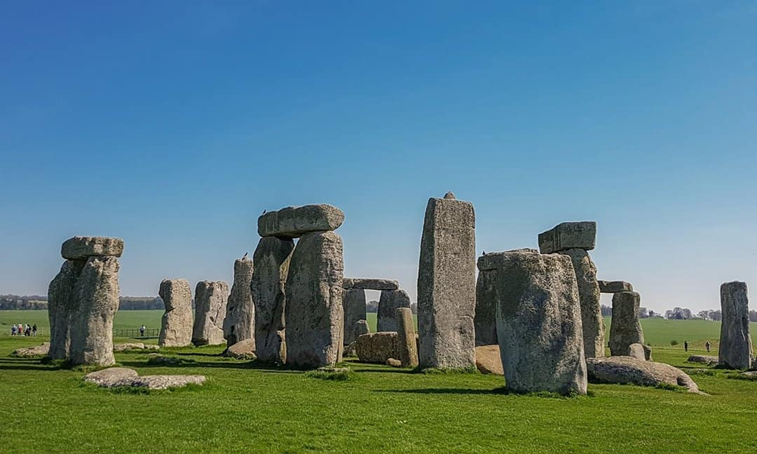 The stone circle at Stonehenge.