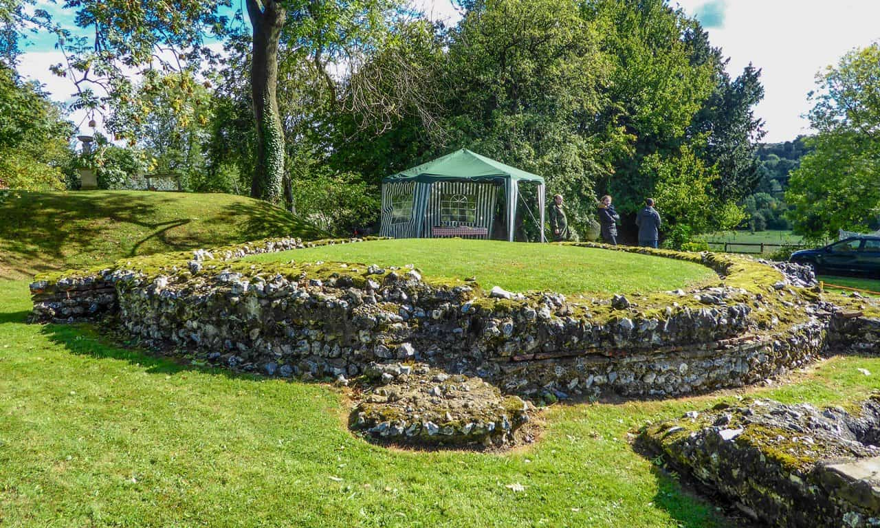 The large circular, Roman tomb at Keston.