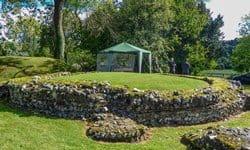 The large circular Roman tomb near Keston, Greater London.