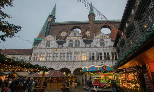 The Hansa town hall in Lubeck, Germany.