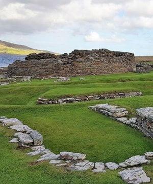 The Neolithic houses of Skara Brae, Orkney.