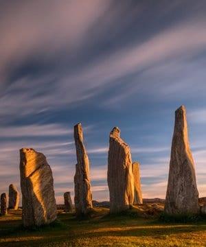 The standing stones of Callanish, Isle of Lewis.