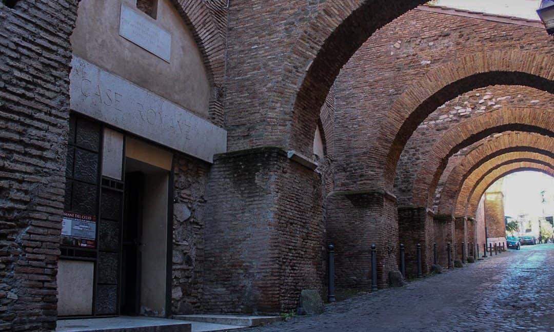 Entrance to Case Romane del Celio on Clivo di Scauro, Rome.