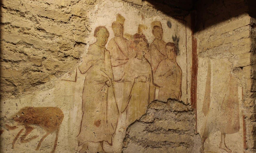 The shrine of the martyrs in Case Romane del Celio, Rome.
