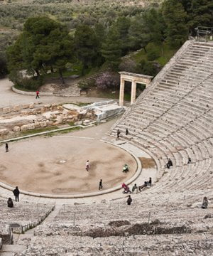 The ancient theatre at Epidaurus.