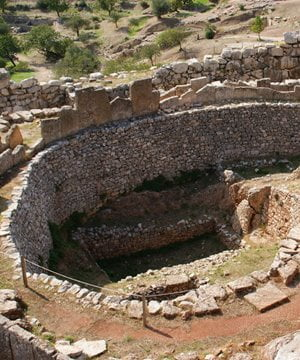The archaeological site of Mycenae.