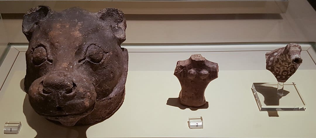Ceramic artefacts from Akrotiri, Santorini.