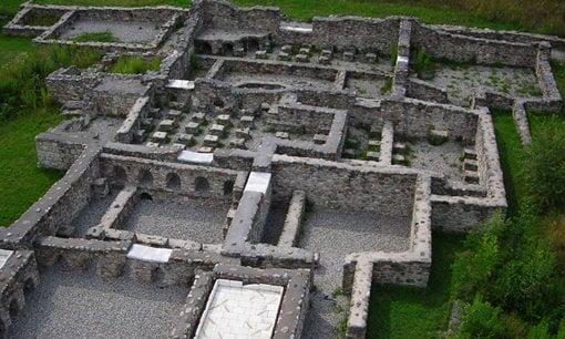Remains of the bath house at Arguntum, Austria