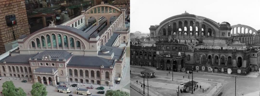 A model of Anhalter Bahnhof as it looked before destruction during WW2.
