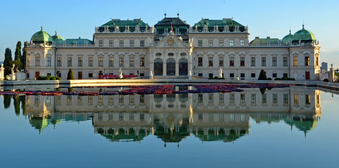 One of the 18th century Belvedere Palaces in Vienna.