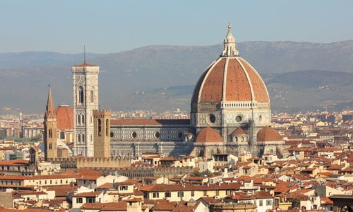 The cathedral on the Florence skyline.