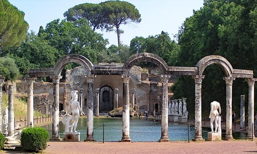 Hadrian's Villa in Tivoli, a day trip from Rome.