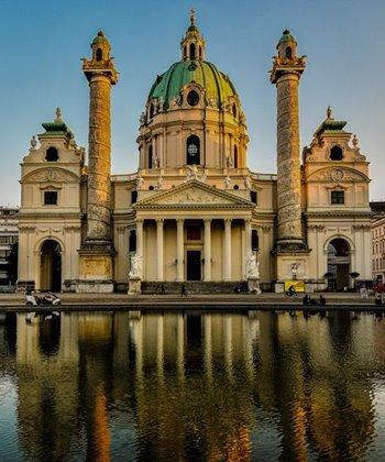 The Baroque Karlskirche in Vienna
